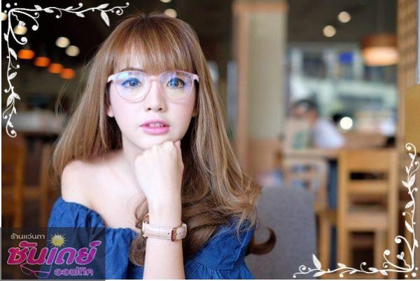 แว่นกรองแสง parery ping กรอบสีชมพู