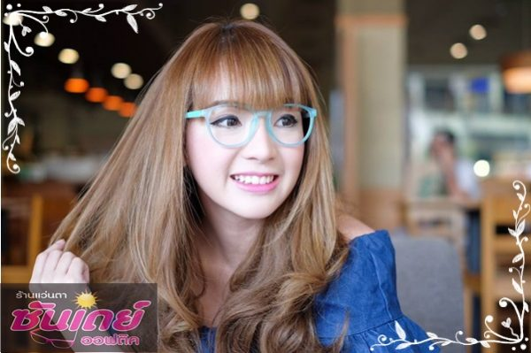 แว่นกรองแสง parery ping กรอบแว่นสีฟ้า