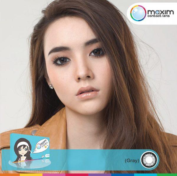 MAXIM Contact Lens ตาสวย (กล่องฟ้า) คอนแทคเลนส์สี รายเดือน เปลี่ยนดวงตาให้สวย หวาน หรือเซ็กซี่ได้ด้วยคอนแทคเลนส์ ที่มี 6 สีให้เลือกด้วยกัน ทั้งสีน้ำตาล (Hazel), สีน้ำตาล (Cocoa), สีเทา (Gray), สีเขียว (Kiwi), สีฟ้า (Blue) และสีม่วง (Violet)