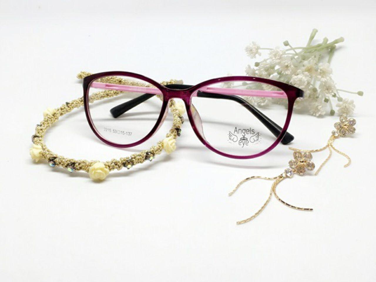 แว่นกรองแสง Angels eye (แว่นตานางฟ้า) รุ่น พลอยรุ้ง